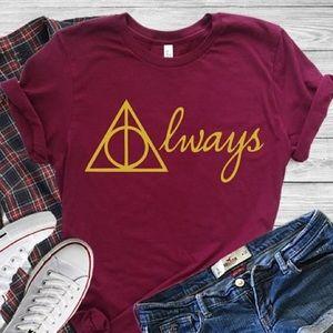 🌺 Always TShirt Harry Potter Theme ComicCon - NWT